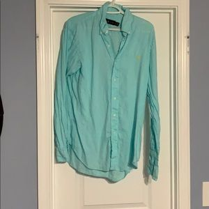 Turquoise button up. Long sleeve
